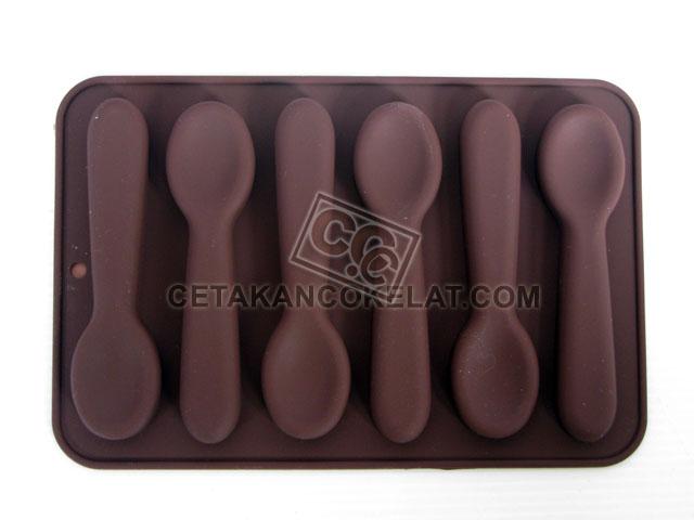 cetakan coklat cokelat sendok SIL044 SIL44