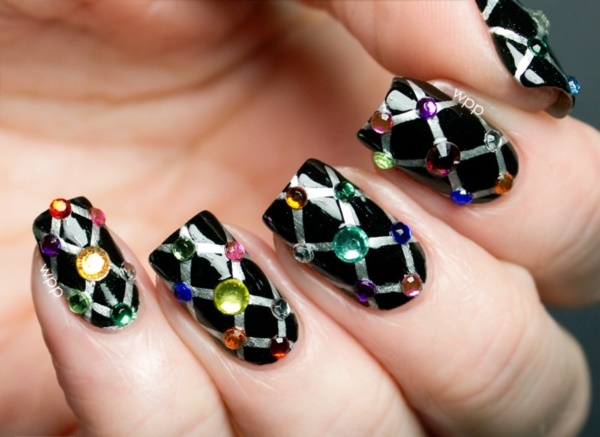 Cute Black Nail Ideas And Polish Designs 6