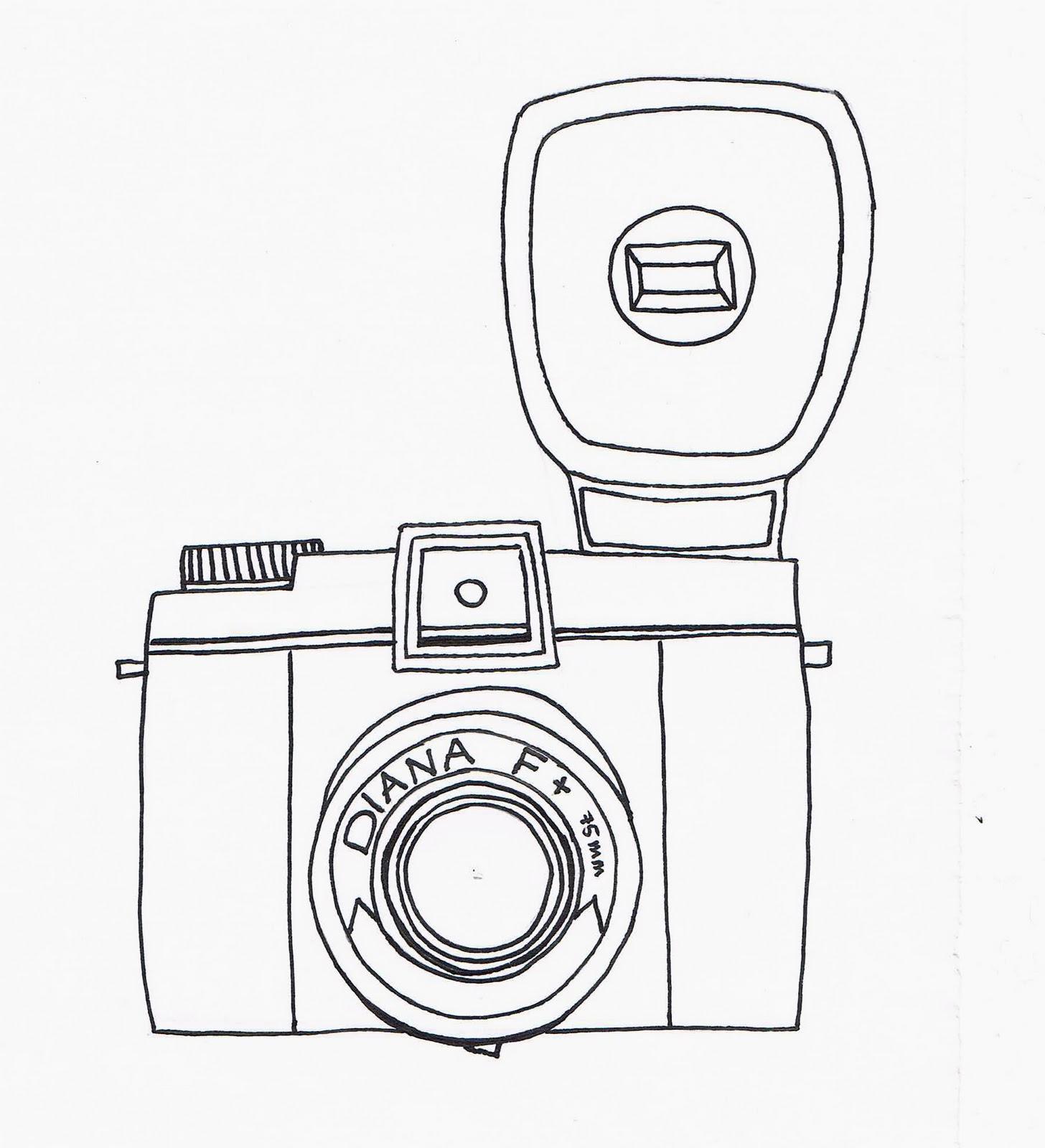 Polaroid Camera Tumblr Sketch Sketch Coloring Page