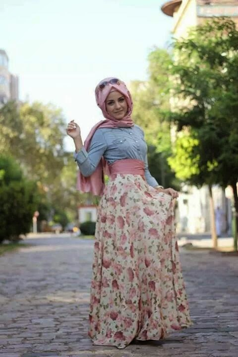 AMAZING CASUAL HIJAB OUTFITS DESIGNS FOR LADIES 2019 7