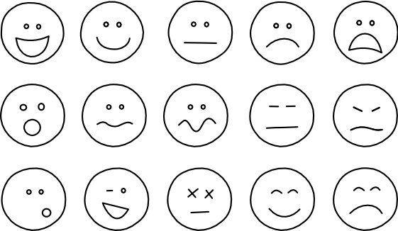 smiley face coloring page