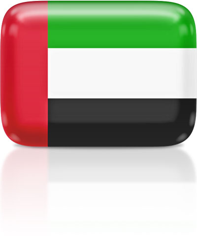 Emirati flag clipart rectangular
