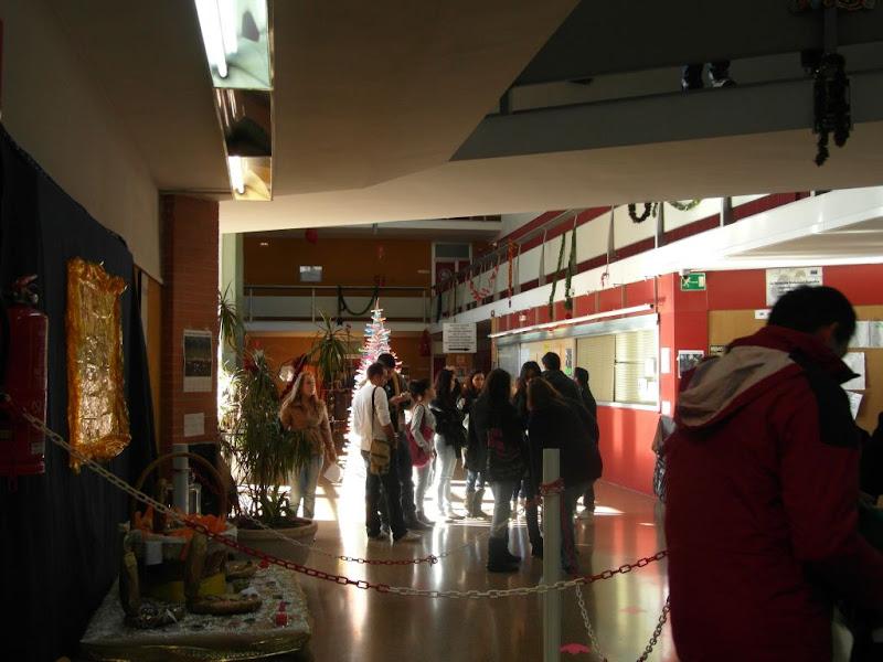 hall del centro con las actividades navideñas