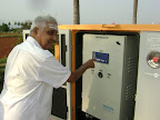 Oldest Tapovan Resident Switching on Generator