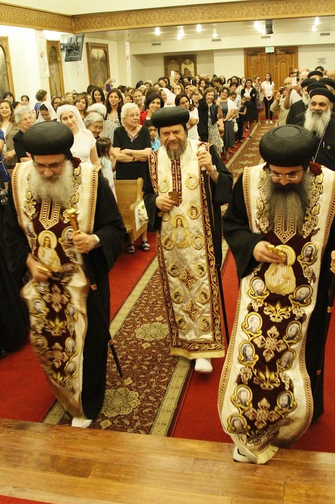 Welcome Reception - HE Metropolitan Serapion, HG Bishop Abraham, HG Bishop Kyrillos
