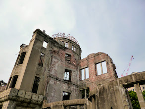 Photo: Former Hiroshima Prefectural Industrial Promotion Hall, now called Atomic Bomb Dome (http://en.wikipedia.org/wiki/Hiroshima_Peace_Memorial). Damaged by the explosion of the atomic bomb dropped by the US air force during the World War II on the 6th August, 1945. Registered as the UNESCO World Heritage site. 28th June updated (日本語はこちら) - http://jp.asksiddhi.in/daily_detail.php?id=587