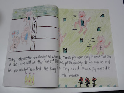 A page from The Race to Be King by Jacob and Austin.