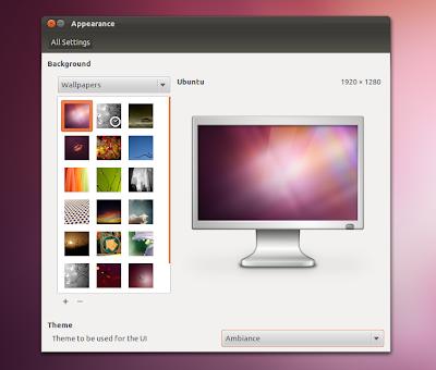Ubuntu 11.10 appearance