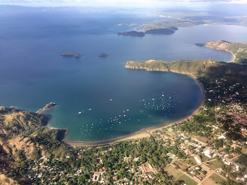 Costa Rica coastline by air
