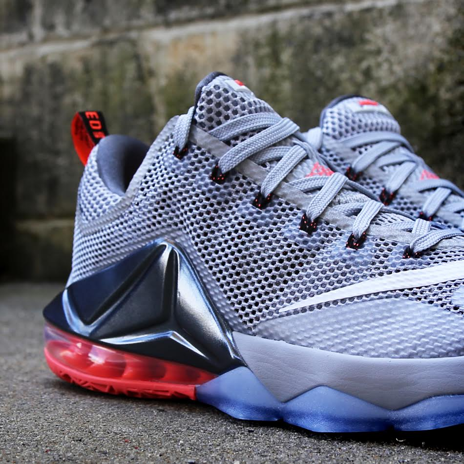 0574abbeee9 ... Release Reminder Nike LeBron 12 Low Wolf Grey Hot Lava ...