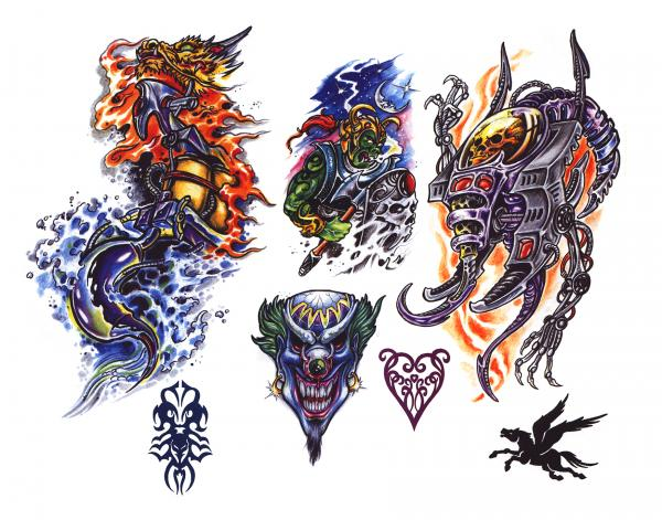 Magical Tattoo Design 12, Fantasy Tattoo Designs