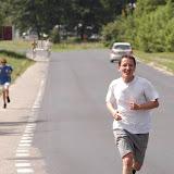 Paweł dobiega na metę, po przebiegnięciu 6,5 km w czasie 28 min