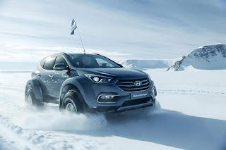 Hyundai Santa Fe crosses Antarctica