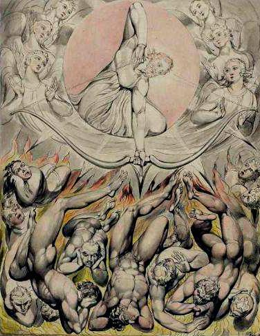 The Casting Of The Rebel Angels Into Hell By William Blake, William Blake