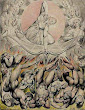The Casting Of The Rebel Angels Into Hell By William Blake