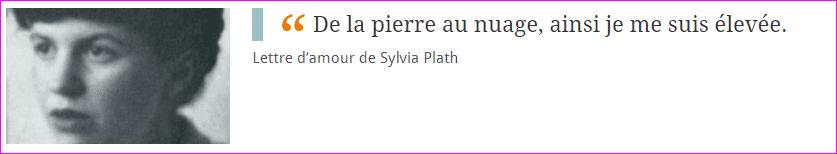 Lettre de Sylvia Plath