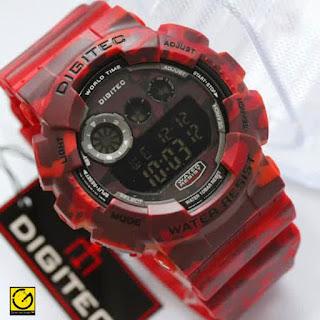 jam tangan Digitec digital Red  army Doreng