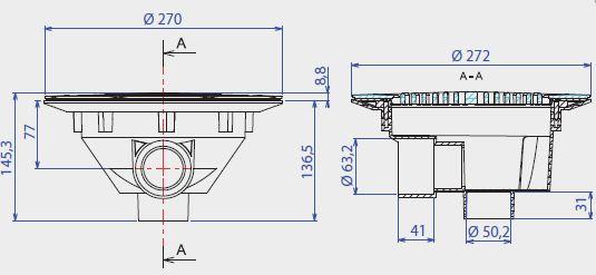 dimensions bonde de fond BB310 Aquareva