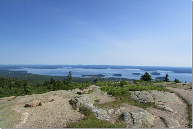 Bar Harbor from atop Cadillac Mountain