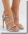 Stuart Weitzman silver leather sandals