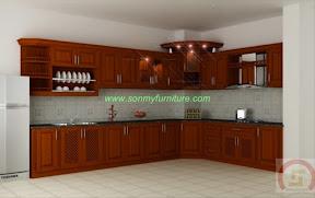 Tủ bếp gỗ tự nhiên BESM0109
