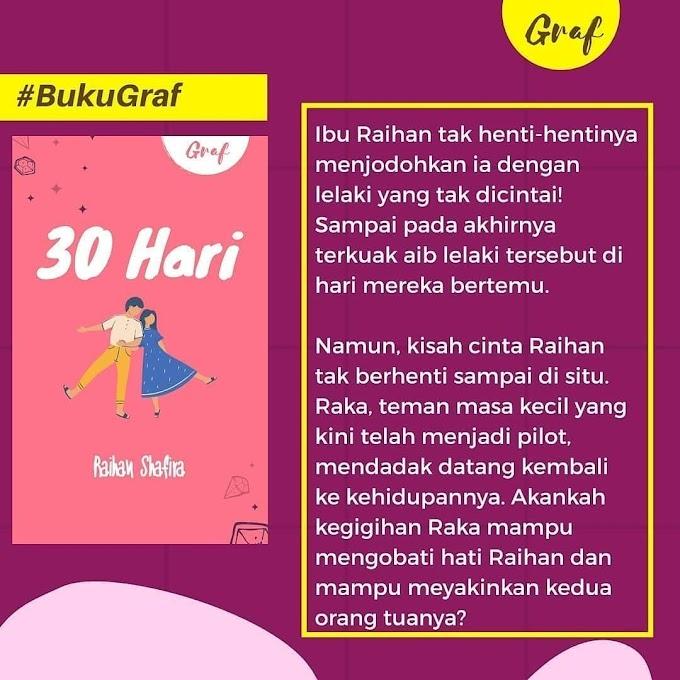"""Buku """"30 Hari"""" karya Raihan Shafira"""