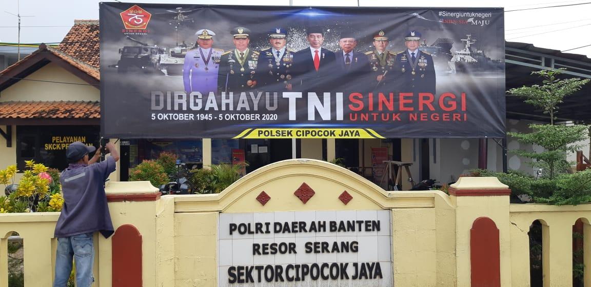 Polda Banten dan Polres Jajaran Pasang Ratusan Spanduk dan Baleho Ucapan HUT TNI ke-75