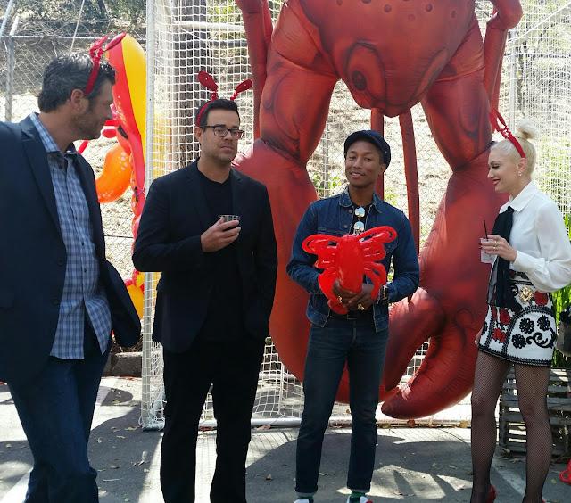 The Voice Cast - Gwen, Blake, Pharrell, Carson