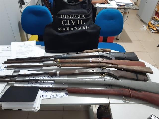 POLICIA CIVIL APREENDE 7 ARMAS DE FOGO NA CIDADE DE PRESIDENTE VARGAS