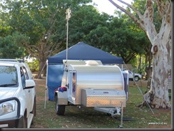 Camper  setup with Aerial and Gazebo