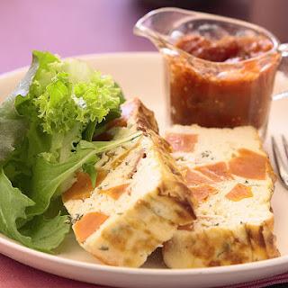 Sweet Potato and Ricotta Terrine with Spicy Tomato Sauce.