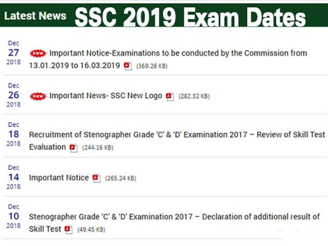 SSC issued the date of the big-level examinations in 2019, when the examination will be held.