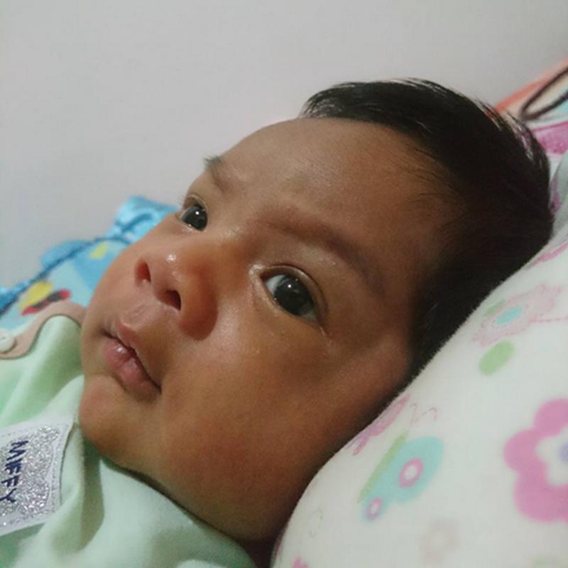 Aariz Iman , sebulan sudah dia !