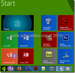 Memilih Microsoft PowerPoint 2013