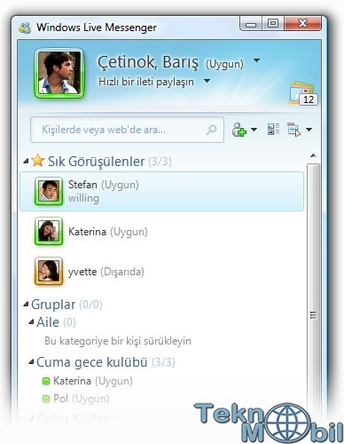 Windows Live Messenger 2012 Türkçe