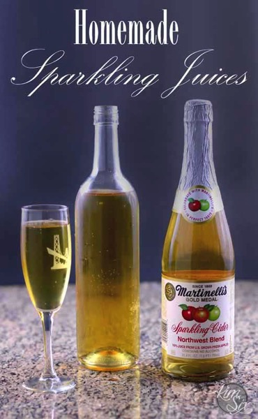 How to Make Your Own Sparkling Juice.  Perfect alcohol free Champagne alternative.  Give a toast without getting toasted!