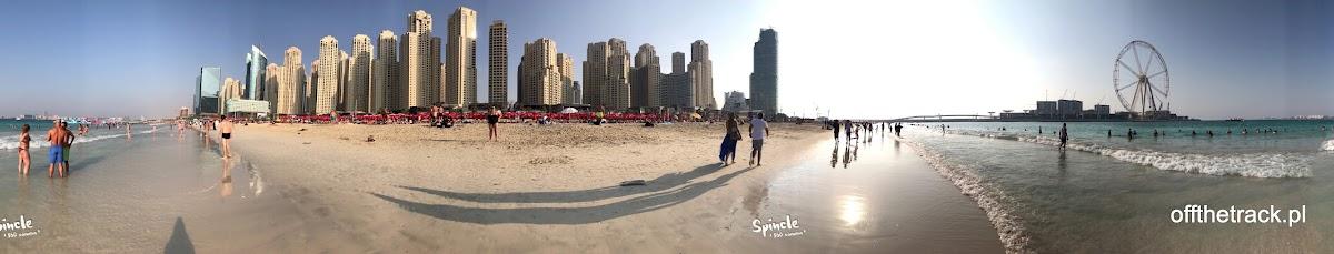 Plaża Marina przy wieżowcach w Dubaju, Zjednoczone Emiraty Arabskie