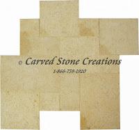 4x8 Limestone Paver Isis Gold Acid