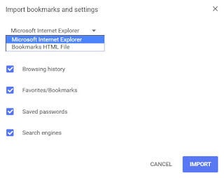 Import Bookmarks and Settings