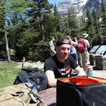 picnic time at Lake Louise, Alberta, Canada in Lake Louise, Alberta, Canada
