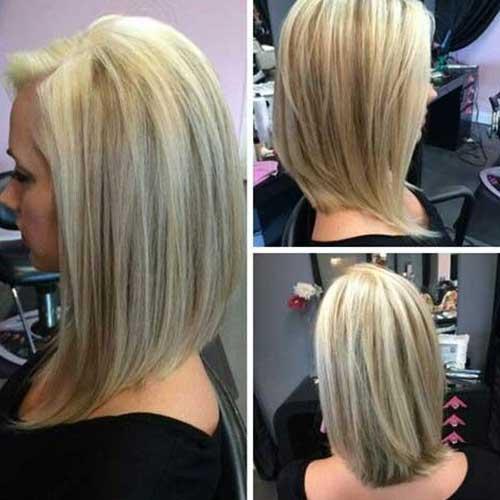 V Cut Hairstyle For Medium Length Hair Ideas