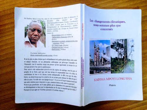 Livre: Kadima Mpoyi publie «Les changements climatiques, nous sommes plus que concernés»
