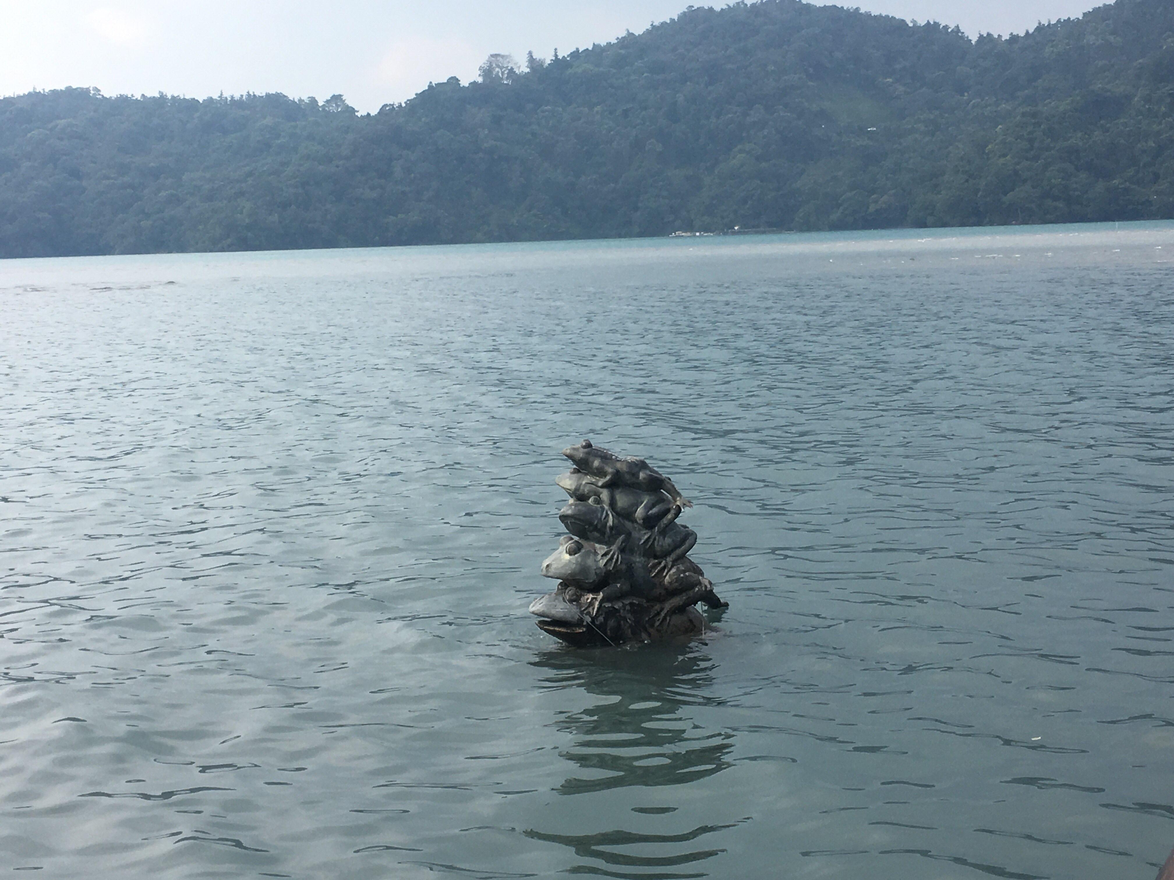 sun moon lake nantou taiwan nine frogs stack