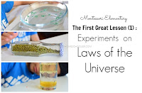 First Great Lesson: Experiments on the Laws of the Universe