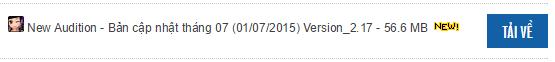 Tải game New Audition - Bản cập nhật tháng 07 (01/07/2015) Version_2.17 - 56.6 MB