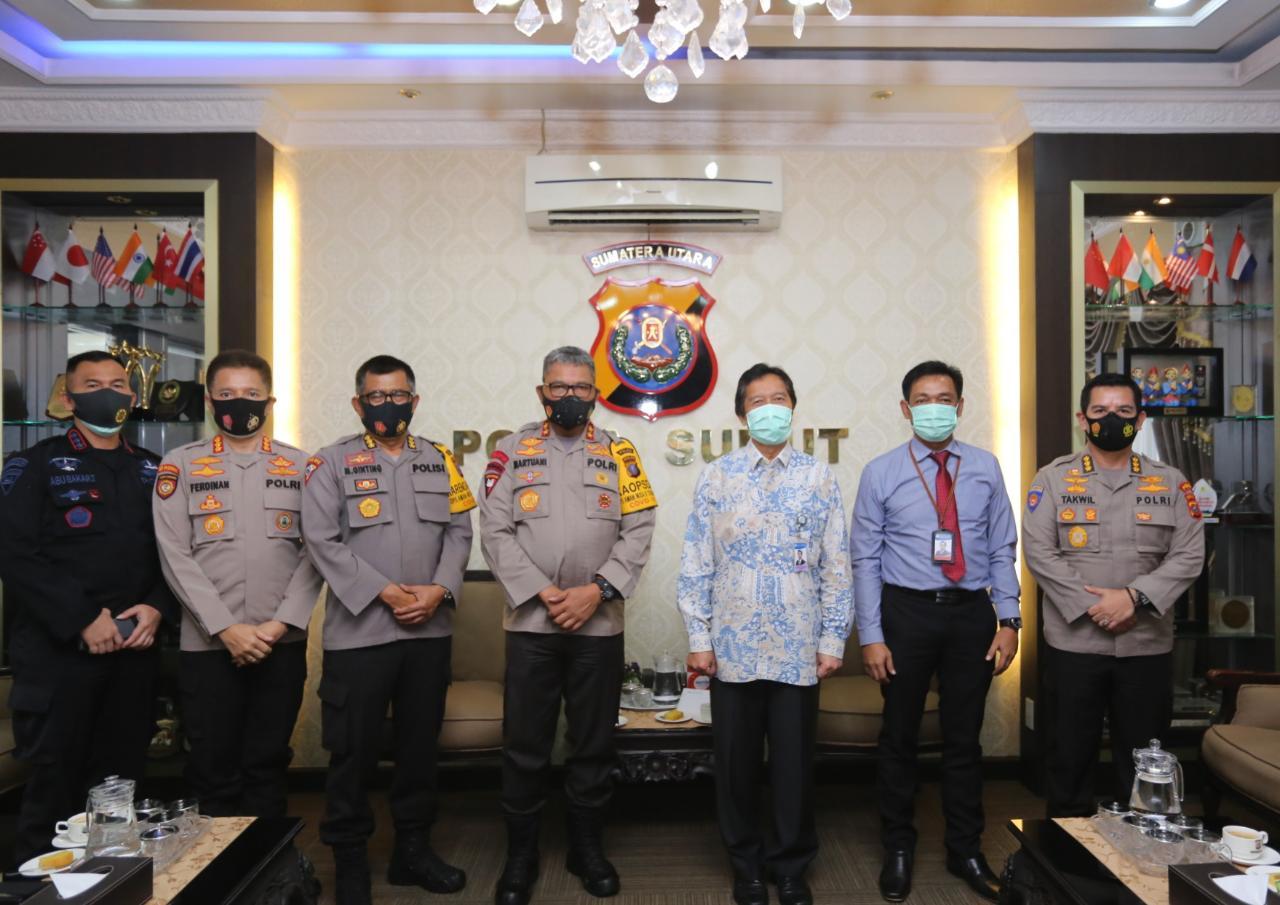 Kapolda Sumut Terima Audiensi Dari Kepala Kantor Bank Indonesia Perwakilan Sumut