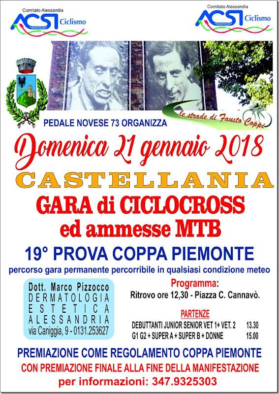 2018-01-21 ACSI - Cross e MTB 19^ prova Coppa Piemonte a Castellania (AL) - Piemonte
