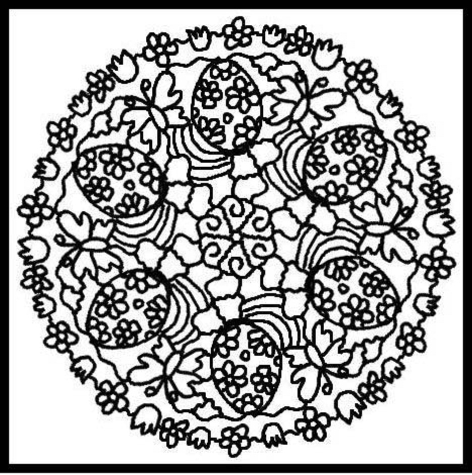 Best Free Flower And Butterfly Mandala Coloring Page Pictures