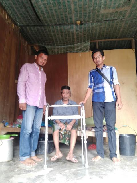 Lembanga Peduli Dhuafa Bantuan Pak. Hasbi Penderita Lumpuh