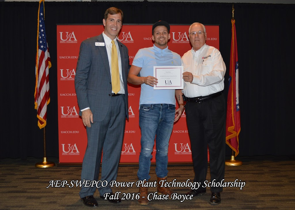 Fall 2016 Scholarship Ceremony - AEP-SWEPCO%2BPower%2BPlant%2BTechnology%2B-%2BChase%2BBoyce.jpg
